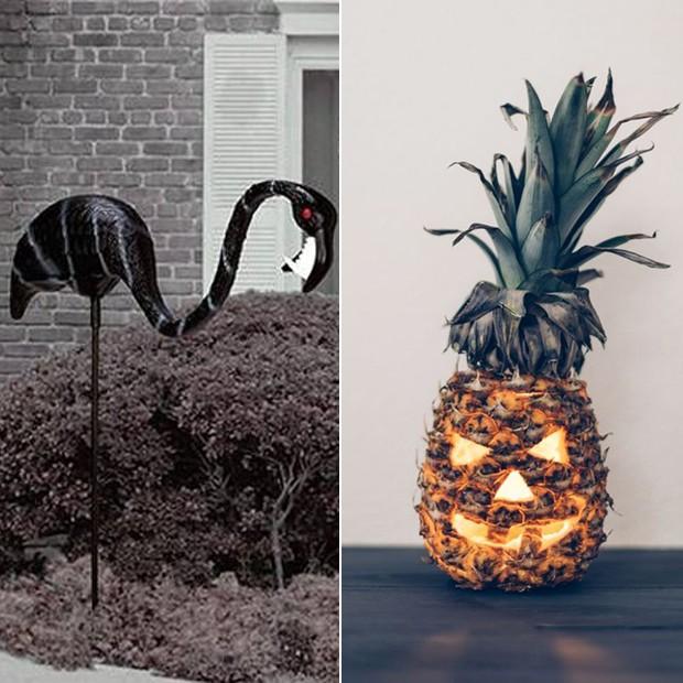 Halloween: Flamingos e abacaxi (Foto: Casa e Jardim)
