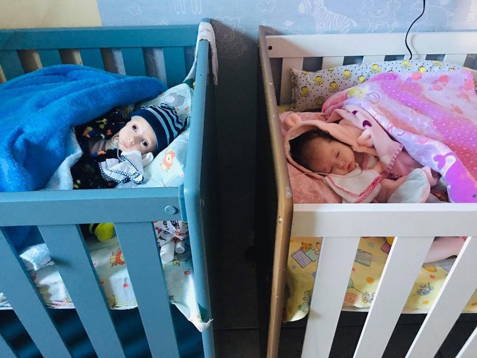Na sala de parto, médicos alertaram sobre uma diferença que Sarah e José Rafael tinham na pele — Foto: Arquivo pessoal/Talita Cavalari