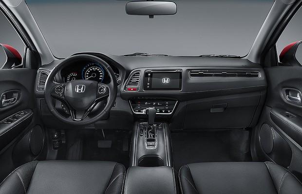 honda divulga primeiras imagens oficiais do interior do hr v auto esporte not cias. Black Bedroom Furniture Sets. Home Design Ideas