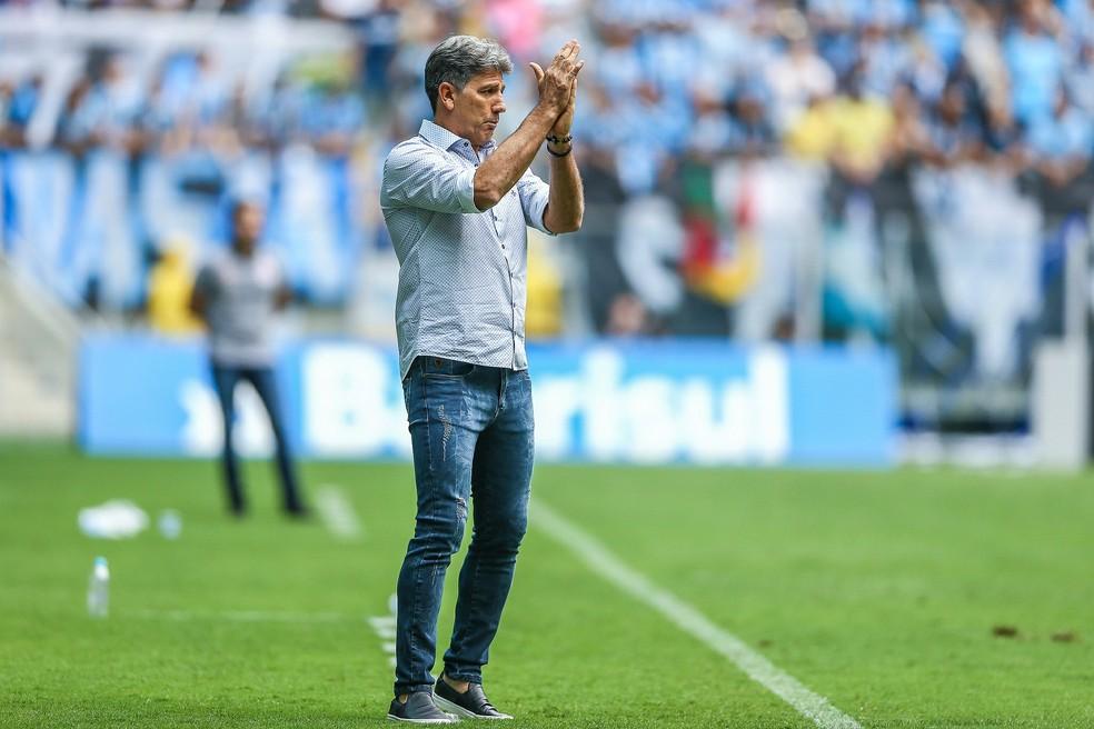 Renato Gaúcho terminou o ano com vitória na Arena e vaga para a Libertadores — Foto: Lucas Uebel/Grêmio/Divulgação