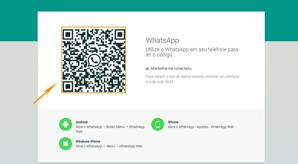 Acesse o WhatsApp Web pelo navegador do PC (Foto: Foto: Reprodução/Barbara Mannara)