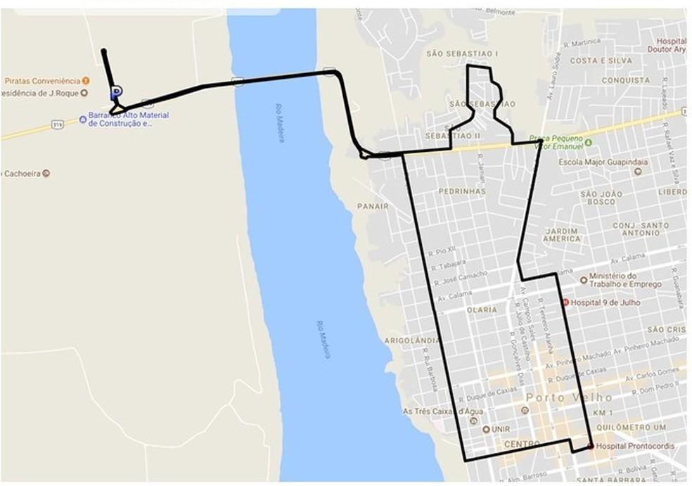 Confira como será o percurso da linha Vila do Dnit (Foto: Prefeitura de Porto Velho/Divulgação )