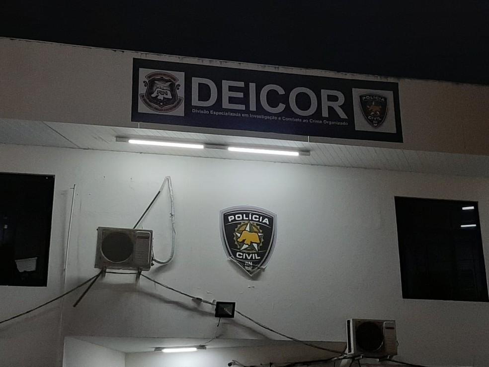 Divisão Especializada em Investigação e Combate ao Crime Organizado (Deicor) — Foto: Samuel Florêncio/Inter TV Cabugi