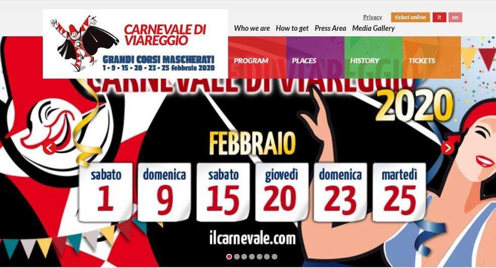 Carnaval de Viareggio — Foto: Divulgação