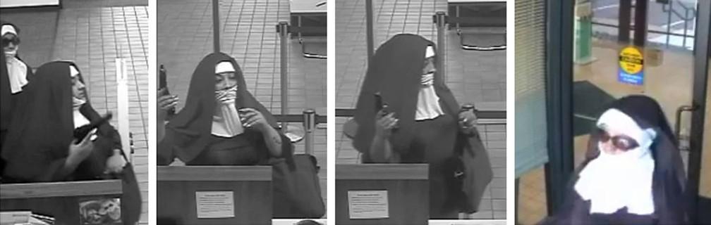 Mulheres vestidas de freiras tentam assaltar banco nos EUA (Foto: FBI)