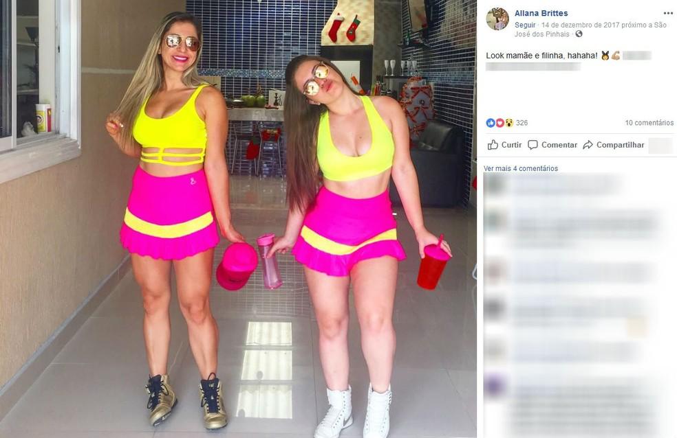 Cristiana e Allana Brittes estão presas na Penitenciária Feminina de Piraquara, na Região de Curitiba — Foto: Reprodução/Facebook