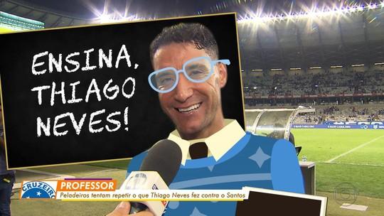 Peladeiros tentam repetir o que Cruzeiro e Thiago Neves fizeram contra o Santos