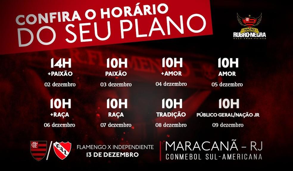 Horários e datas de abertura dos planos para o segundo jogo da final da Copa Sul-Americana (Foto: Reprodução / Twitter)