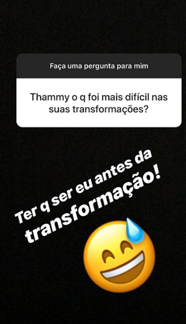 Thammy Miranda responde fãs (Foto: Reprodução)