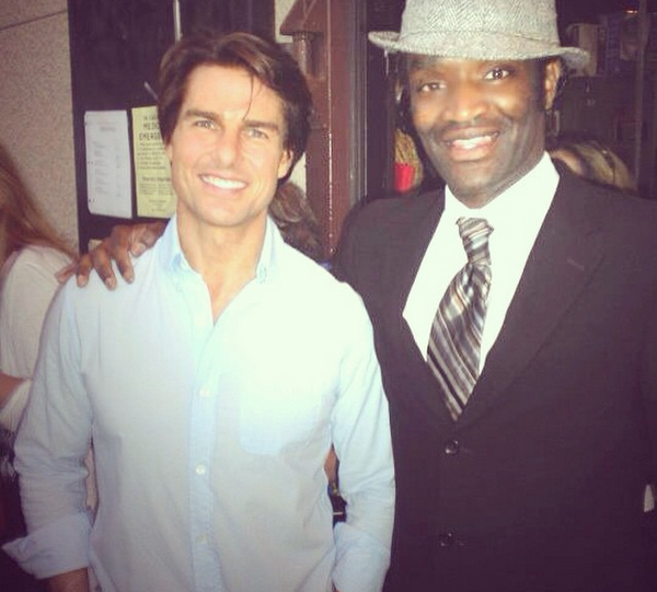 Terry Bryant com Tom Cruise (Foto: Instagram)