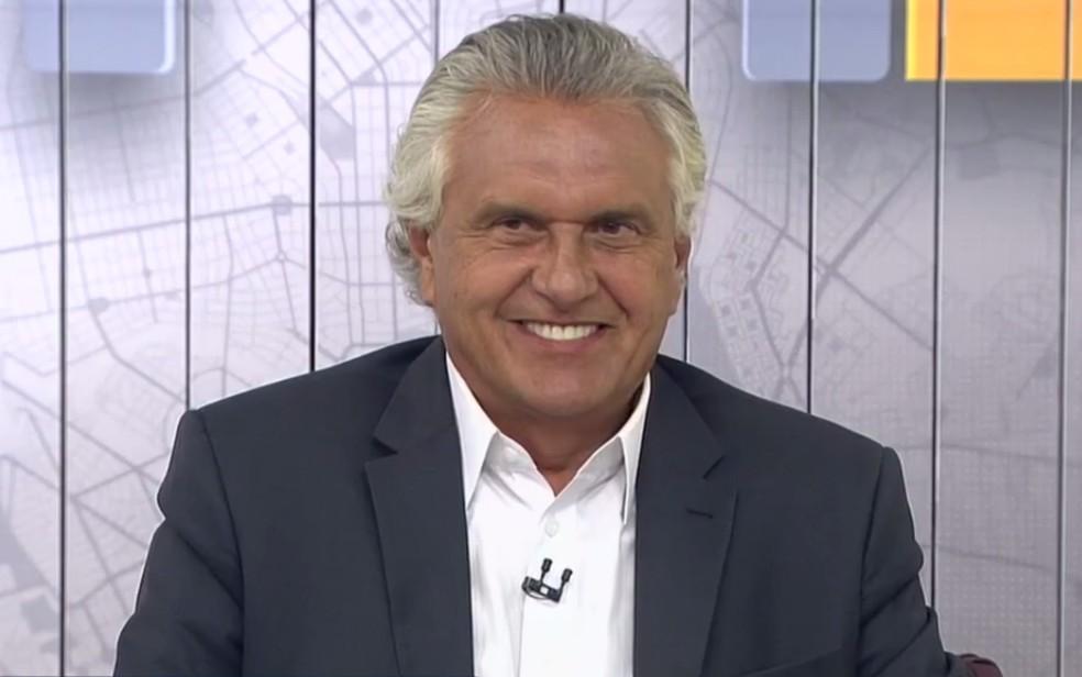 Ronaldo Caiado (DEM) governador eleito em Goiás — Foto: Reprodução/TV Anhanguera