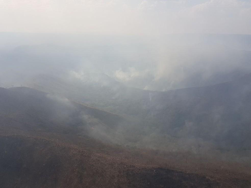 Foram registrados 6.450 focos de queimadas — Foto: Corpo de Bombeiros-MT/ Divulgação