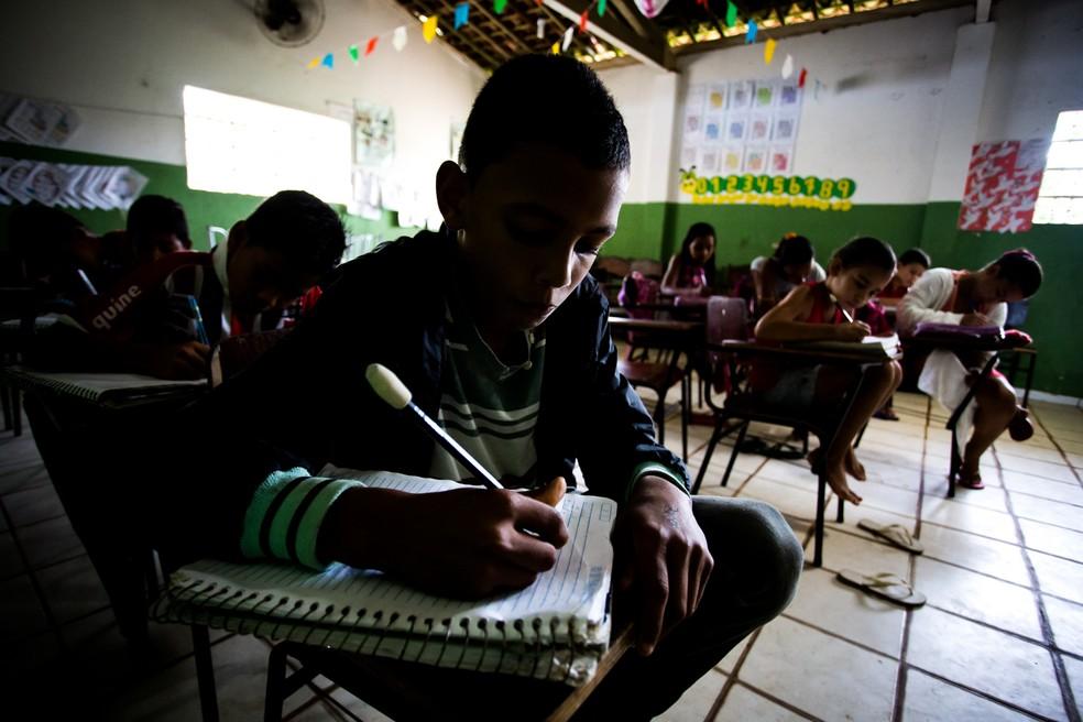 Caiu número de matrículas nos ensinos fundamental e médio em Alagoas neste ano (Foto: Jonathan Lins/G1)