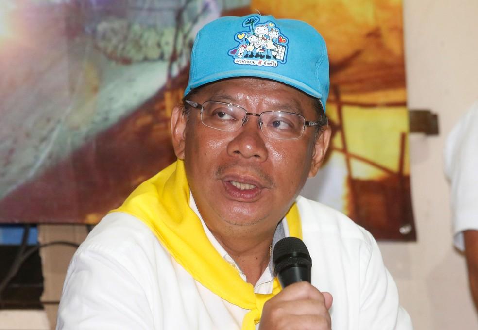 Narongsak Osatanakorn, governador de Chiang Rai e coordenador das operações de resgate de grupo preso em caverna na Tailândia (Foto: Sakchai Lalit/AP)