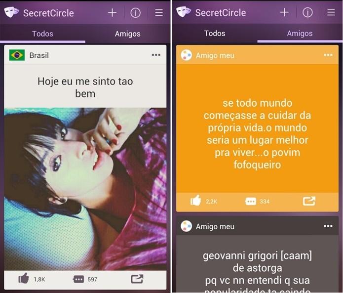 Secret Circle, app para Android que imita o Secret (Foto: Divulgação/Secret Circle)