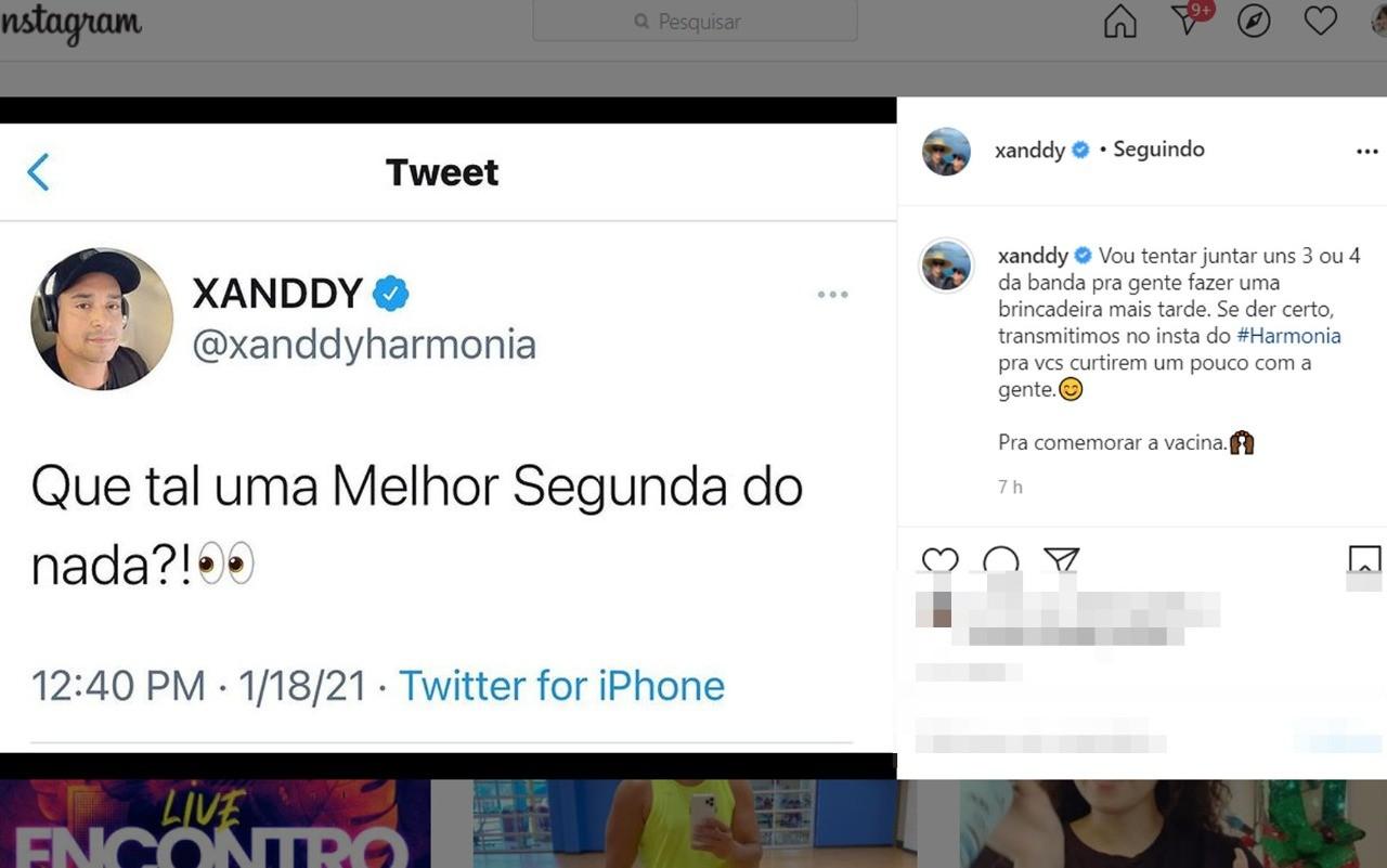 Xanddy agita as redes sociais com edição de ensaio de verão virtual: 'Pra comemorar a vacina'