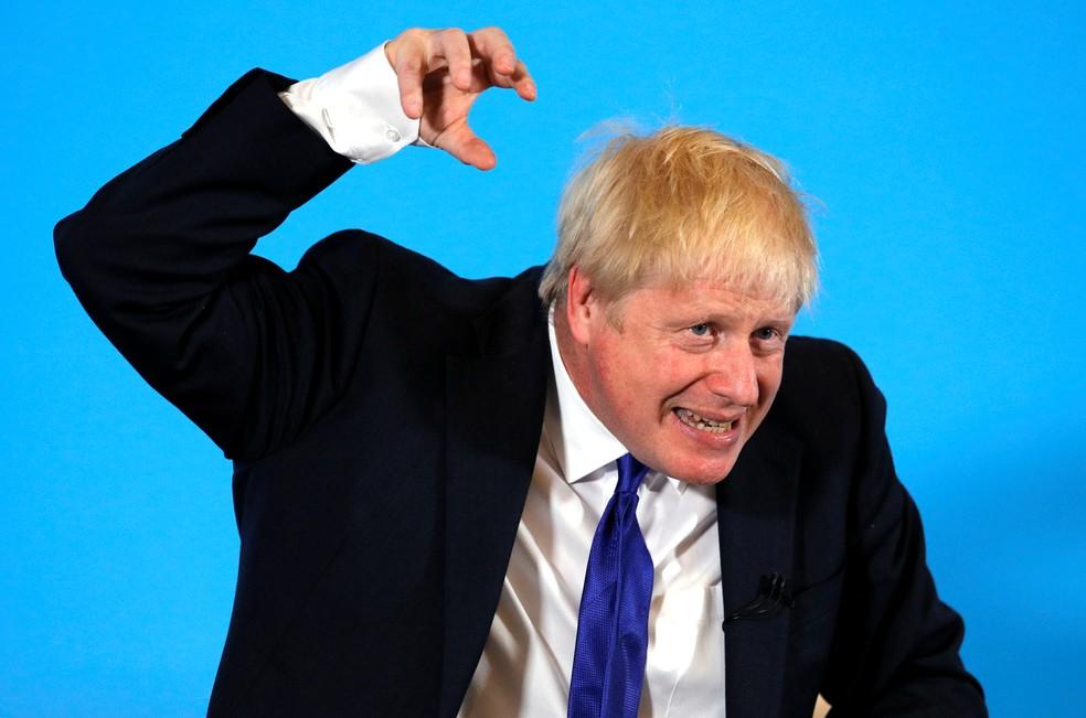 Boris Johnson durante evento do Partido Conservador em Nottingham, em 6 de julho — Foto: Phil Noble / Reuters