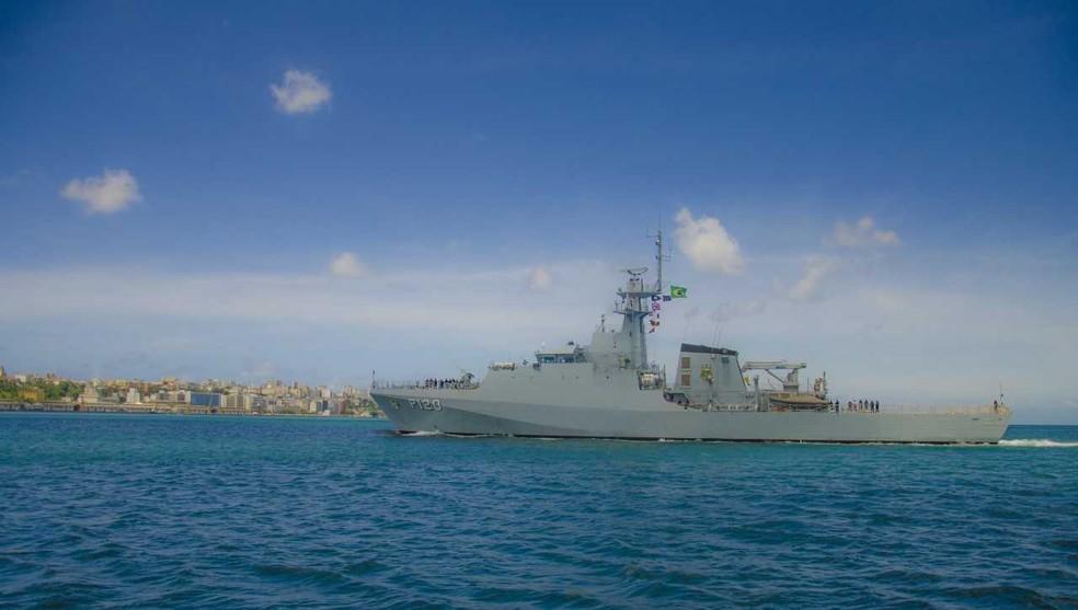 Navio 'Amazonas' pode ser visitado no porto de Salvador — Foto: Marinha do Brasil/ Divulgação