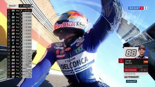 Mesmo com tráfego, Martín consegue mais uma pole da Moto 3 na carreira