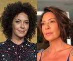 Fabiula Nascimento antes e depois de cortar os cabelos | Divulgação / TV Globo