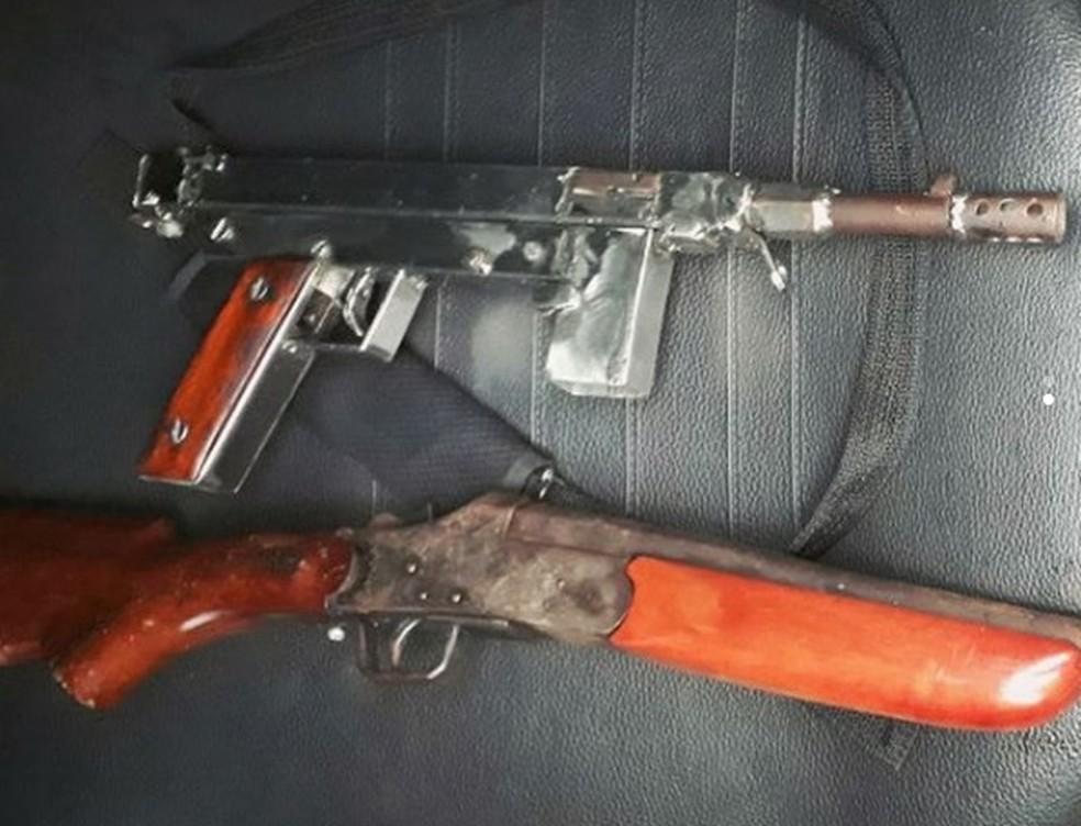 -  Polícia apreende armas em fábrica clandestina na periferia de Fortaleza  Foto: SPPDS/Divulgação