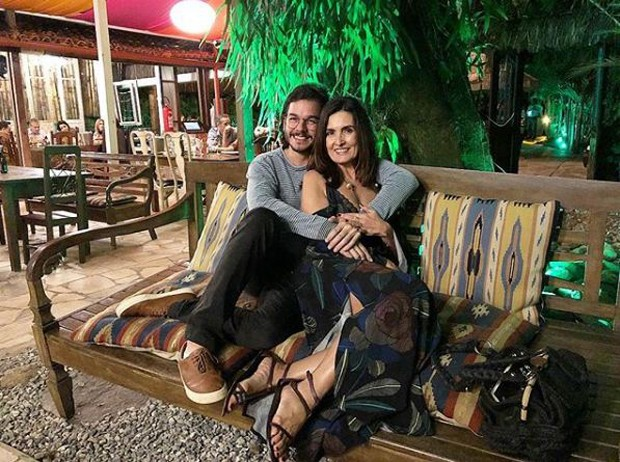 Túlio Gadêlha e Fátima Bernardes comemorando o Dia dos Namorados (Foto: Reprodução/Instagram)