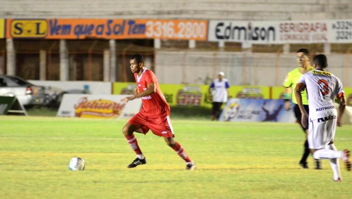 RN - Tiago Souza, atacante do Potiguar de Mossoró (Foto: Allan Phablo)
