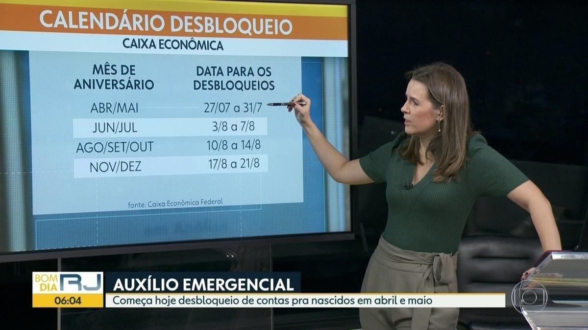 Semana começa com filas nas agências da Caixa para desbloqueio do auxílio emergencial e saque do FGTS no Rio – G1