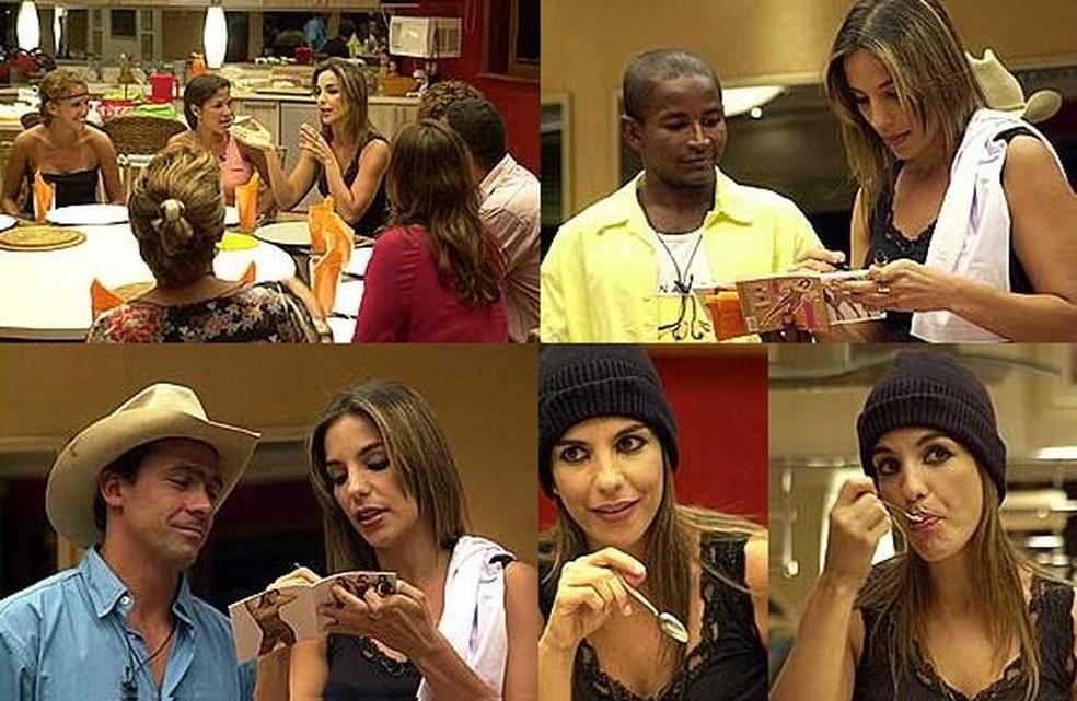 Ivete Sangalo visitou a casa do BBB na segunda edição — Foto: TV Globo