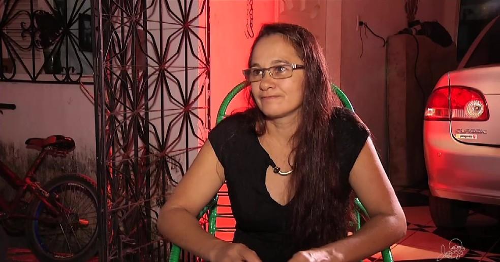 Eulália Belo afirma que, após ver as imagens da tentativa de assalto, não vai mais reagir (Foto: TV Verdes Mares/Reprodução)