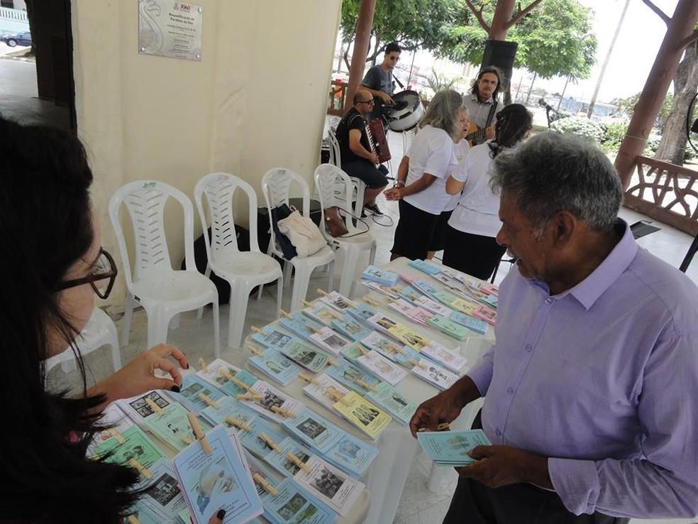 Literatura de Cordel faz parte da programação deste domingo, no Parque da Lagoa — Foto: Secom-JP/Divulgação