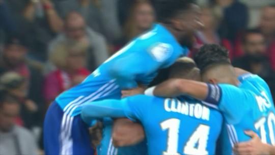 Luiz Gustavo marca, é expulso, e Olympique vira sobre o Nice fora de casa