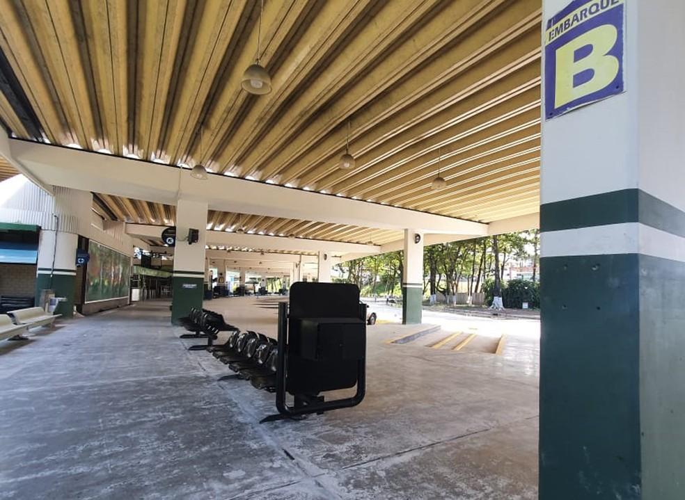 Rodoviária de Salvador está fechada desde março por causa da pandemia do novo coronavírus — Foto: Camila Marinho/TV Bahia