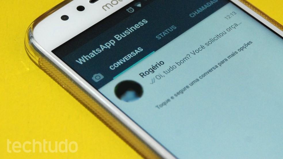 WhatsApp Business ajuda na comunicação entre clientes e empresas — Foto: Raquel Freire/TechTudo