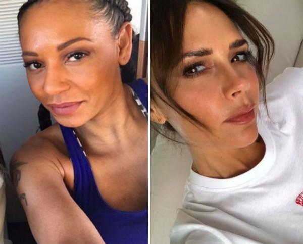 As cantoras e ex-Spice Girls Mel B e Victoria Beckham (Foto: Instagram)