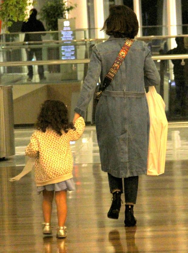 Vanessa Giácomo e a filha, Maria (Foto: J Humberto/AgNews)