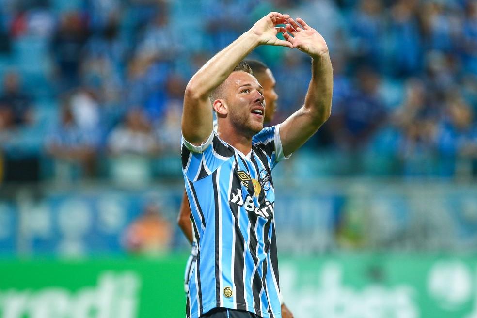 Arthur já tem quatro gols marcados na temporada (Foto: Lucas Uebel / Grêmio, DVG)