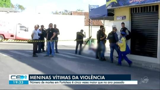 Assassinatos de garotas crescem 412% em Fortaleza