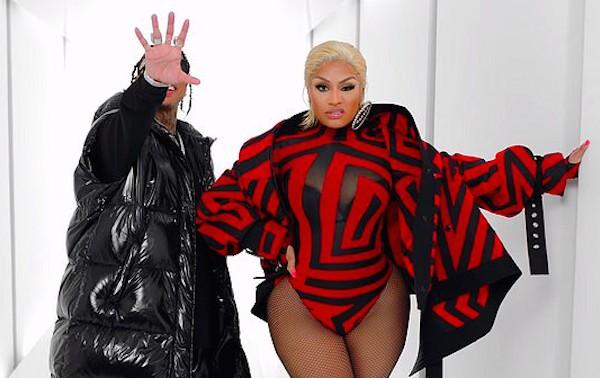 A cantora Nicki Minaj no clipe com o rapper Tyga (Foto: Reprodução)