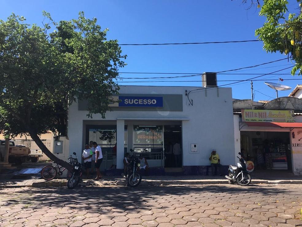 Lotérica em Corumbá (MS) onde foi feita a aposta de suposto vencedor da mega — Foto: Carla Salentim/TV Morena