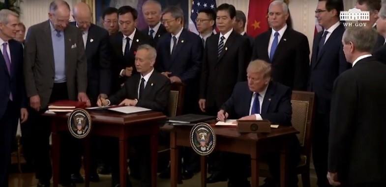 eua-china-assina-acordo (Foto: Reprodução/Youtube)