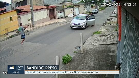 Bandido que praticou vários assaltos em Nova Iguaçu é preso