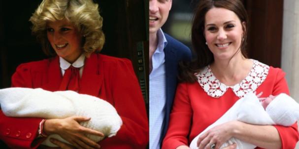 Princesa Diana e Kate Middleton (Foto: Twitter/Reprodução)