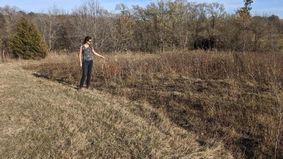 Temendo ficar desempregada, bióloga Bianca Ott Andrade mudou-se para os Estados Unidos, onde faz pós-doutorado na Universidade do Nebraska-Lincoln  — Foto: Arquivo Pessoal via BBC