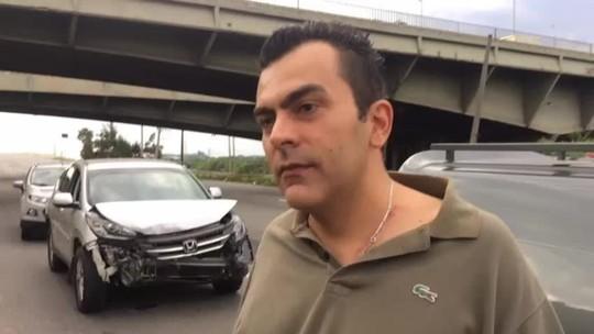'Senti o carro voar', diz motorista que passava pelo viaduto
