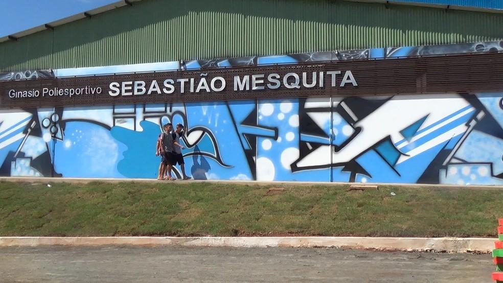 -  Ginásio Sebastião Mesquita foi reinaugurado em Jaru  Foto: Rinaldo Moreira/ G1