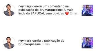 Neymar elogia Marquezine (Foto: Instagram/Reprodução)
