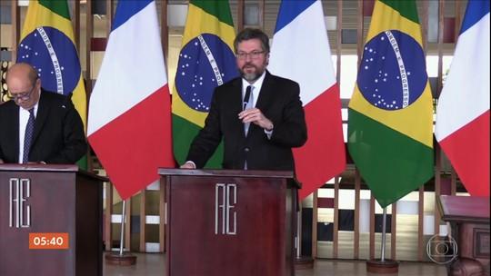 Chanceler da França sinaliza que país não tem pressa em aprovar acordo entre Mercosul e UE