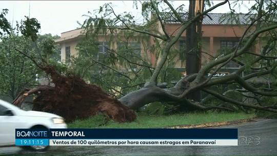 Temporal no Noroeste derruba árvores deixa várias cidades sem energia