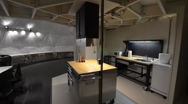 Vista da cozinha (Foto: Divulgação/Hi-Seas)